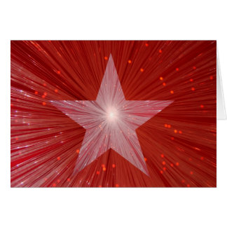 Red Star greetings card