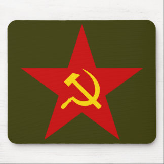Red Star hammer sickle mousepad