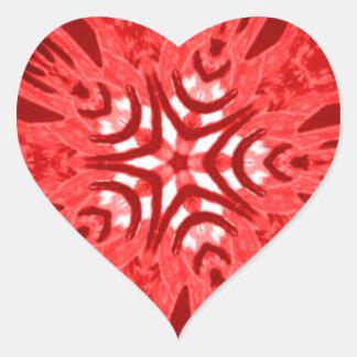 red star heart sticker