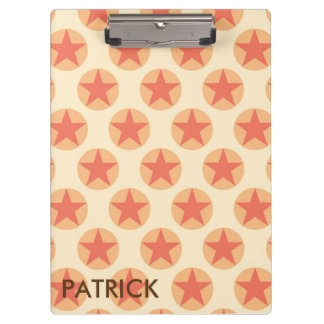 Red Star Pattern by storeman Clipboard