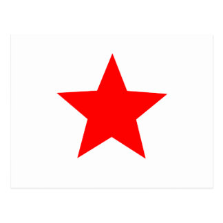 red star postcard