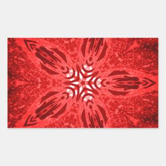 red star rectangular sticker