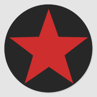 Red Star Round Sticker