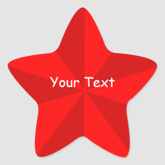 Red Star Shape Sticker