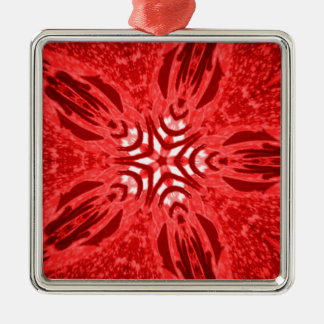 red star Silver-Colored square decoration