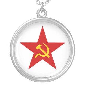 Red Star Silver Plated Necklace