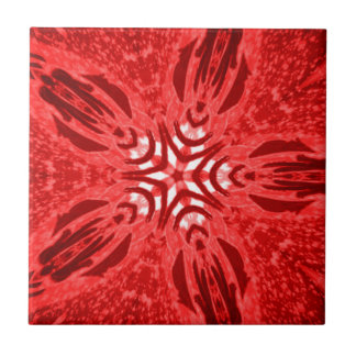 red star small square tile