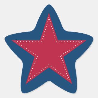 Red star sticker - Christmas