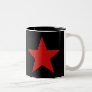 Red Star Two-Tone Coffee Mug