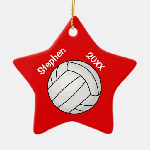 Red Star Volleyball Player Personalized Christmas Christmas Ornament