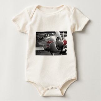 Red Star Yak 52 Baby Bodysuit
