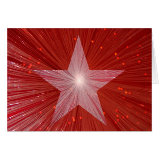 Red Star 'Your Text' greetings card
