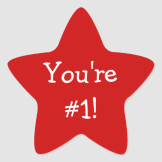 Red Star You're #1 Sticker