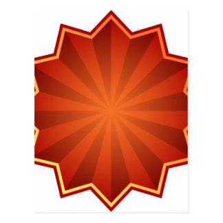Red Starburst Icon Postcard
