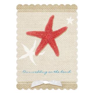 Red Starfish + Burlap Destination Wedding Invites