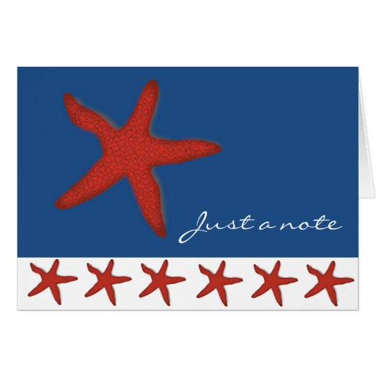 Red Starfish Note Card