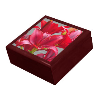 Red Stargazer Lilies Floral Gift Box