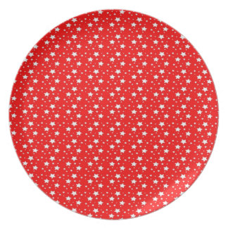 Red Starry Plate