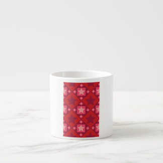 Red Stars and Diamonds Pattern Espresso Mug