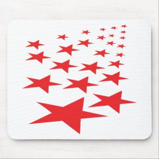 red stars carpet mouse pad