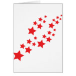 red stars falling greeting card
