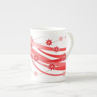 Red stars lovely espresso mug