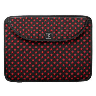 Red Stars Sleeve For MacBooks