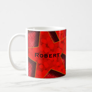 Red Stars Monogram Classic Mug Mugs