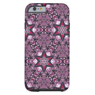 Red Stars on Purple Kaleidoscope iPhone 6 Case Tough iPhone 6 Case