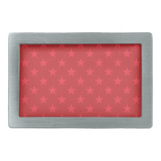 Red stars pattern belt buckles