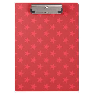 Red stars pattern clipboard