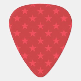 Red stars pattern plectrum