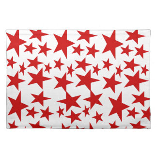 Red Stars Place Mat