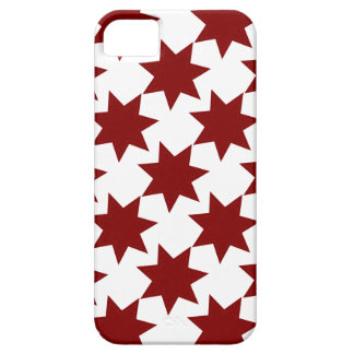 Red Stars Quilt Pattern Primitive Theme Case For The iPhone 5