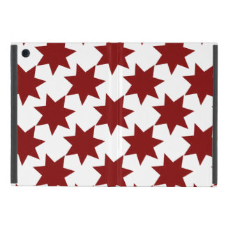 Red Stars Quilt Pattern Primitive Theme iPad Mini Case