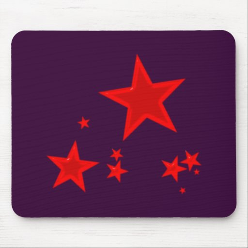 red stars talk star mouse pads