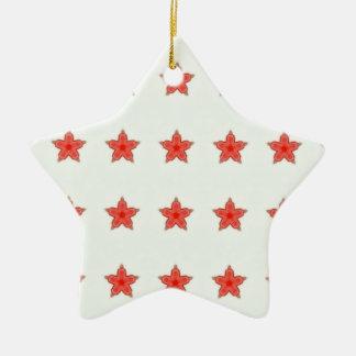 red stars Thunder_Cove Christmas Ornament
