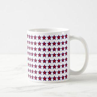 Red Stars w Blue Stroke Mug