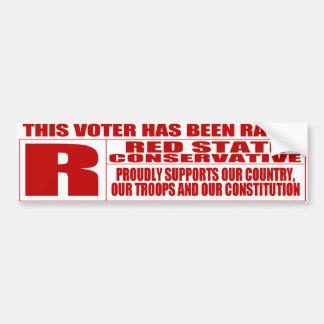 Red State Conservative Bumper Sticker