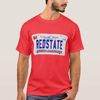 Red State - NC Plate T-Shirt