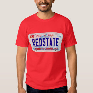 Red State - NC Plate Tshirts