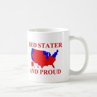 Red Stater and Proud Basic White Mug