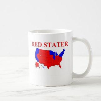 Red Stater Basic White Mug