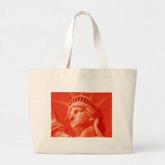 Red Statue of Liberty Canvas Bag