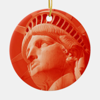 Red Statue of Liberty Christmas Ornament