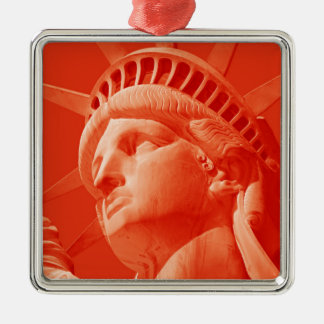 Red Statue of Liberty Christmas Tree Ornaments