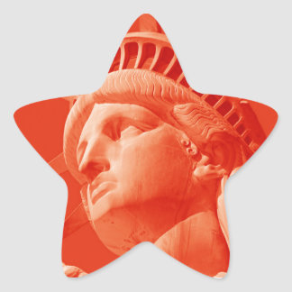 Red Statue of Liberty Star Sticker