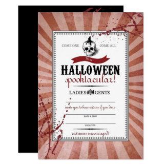 Red Steampunk Skull Card
