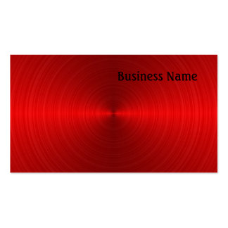 Red Steel Pack Of Standard Business Cards