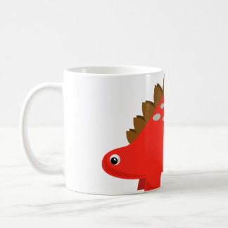 Red Stegosaurus Mug